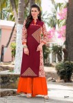 Embroidery Cotton Casual Long Kurta | Maroon Colour