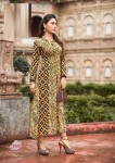 Brown Color Fashion Blossom weight less Georgette Kurtis -  L Size 3005