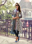 Blue | White Color Stylish Beautiful Designer Printed Cotton Kurtis - 01