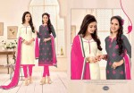2 IN 1 Chanderi and Cotton Jacquard salwar suit dress material 77005