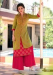 Rayon, Cotton, Kora Silk With German Gold Print kurti 207