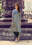 Blue | Multi Color Stylish Beautiful Designer Printed Cotton Kurtis - 03