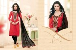 Chanderi Embroidery salwar suit dress material 2002
