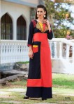 Print & Embroidery Cotton Casual Kurta | Red Black