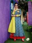 Cotton & Rayon Long Designer Kurta | Blue Green Colour