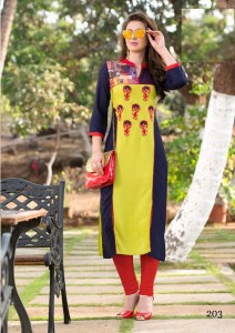 Cotton Embroidery kurti M-size 203