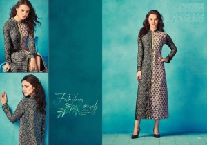 Gray & Ash Colour Cotton Designer Long Casual Kurta