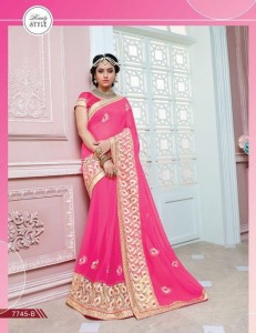 18aa30ecb07ba Embroidery Fancy Saree and Embroidery border 7745B