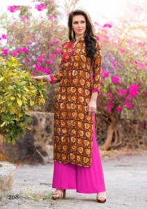 Print Embroidery Cotton Casual Long Kurta | M Size