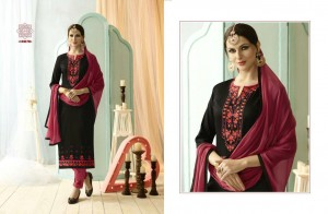 Black Colour Cotton Embroidery Salwar Nazneen Dupatta