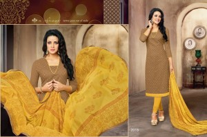 Chiffon Dupatta, Cotton Bottom & Embroidery Work Top
