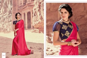 PINK SATIN SILK SAREE WITH EMBROIDED BLOUSE 1067