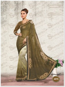 Embroidery Fancy Saree & Border : Blouse-Art Silk