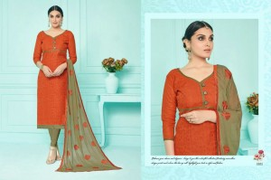 Cotton Salwar & Embroidery Chiffon Dupatta