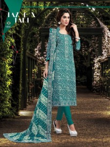 Printed Cotton Silk Salwar Suit Material & Dupatta
