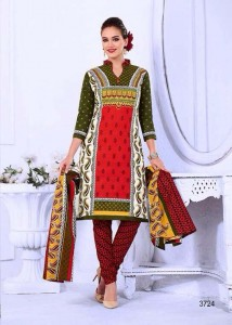 Printed Cotton Salwar, Dupatta & Bottom - Mixed Colour