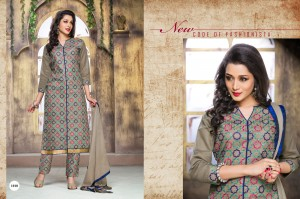 Cotton Embroidery Salwar Printed Nazneen Dupatta Gray