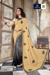 Georgette Patch Work Saree Banglori Silk Blouse