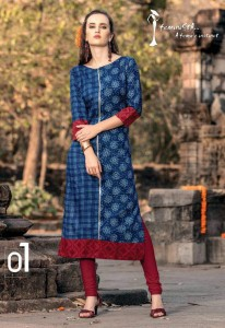 Jaipur Cotton Printed Casual Kurta | Blue Colour