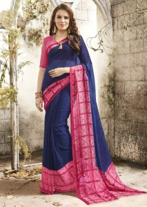 Georgette Printed Everyday Wear Saree | Blue Colour