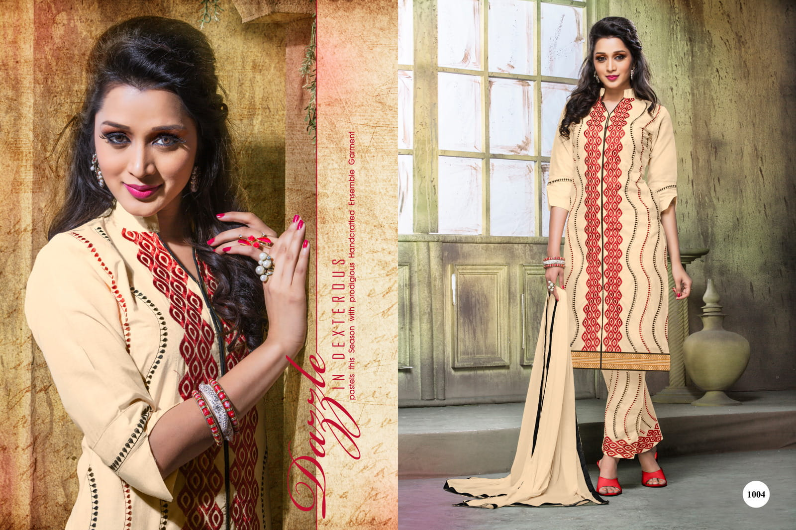 56faed1ef1 Lawn Cotton Embroidery Salwar suit dress material 1004 | Online ...